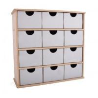 Quality colorful cardboard drawer storage box for sale