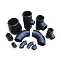 China ASTM 234 Butt Weld Tube Fittings Alloy Steel Pipe Fittings Black Color on sale
