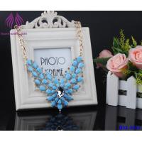 Quality Women Crystal Rhinestone Flower stone Choker Statement Shining glass bead Necklace Pendant for sale