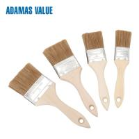 Quality 8-10mm Thickness Wooden Handle Paint Brushes With Mixed Natural Bristles for sale