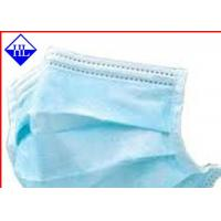 Quality Colored Medical Non Woven Fabric , Disposable Face Mask Non Woven Cloth Antimicrobial for sale