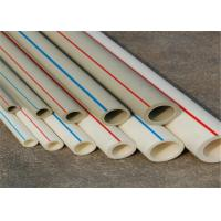 Quality FIBER COMPOSITE Fusion Ppr Pipes White Color PN25 Work Pressure Furring Resistance for sale
