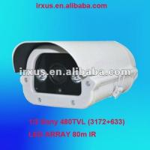 Quality 80m IR LED Array cctv Box Camera, 1/3 Sony CCD 480TVL for sale