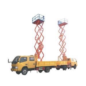 Aerial Work Platform Truck Mounted Vertical Man Lifting (10m-12m Scissor Lift Platform Bucket Man Lift)