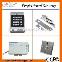 Quality Security product access control card and pin 1000 users door access controller kit contains boly lock,power supply,exit button for sale