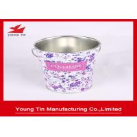 Quality CMYK Printed Easter Promotional Gifts Packaging Tin Bucket With Handle YT1187 for sale