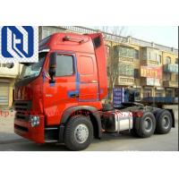 40 Ton Prime Mover Truck , Howo A7 Cabin Sinotruk 420hp 6x4 Tractor Head Truck