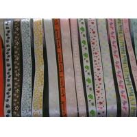 China Polyester Ribbon with Silk Print Design on sale