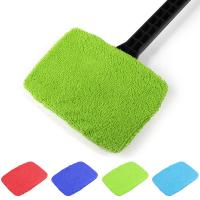 China Microfiber Multi Function Window Cleaning Brush Towel Cover Car Home Glass Cleaning Tools Cover Dust Brush Cover on sale