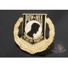 Custom Metal Hard Enamel Pow Mia Logo Lapel Pin Bages, Logo Effect Shiny Gold for sale