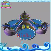 China Inflatable Slide with Water Pool Water Park Giant Inflatable Pool Water Slide for Sale on sale