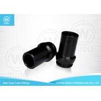 China Black Hydraulic Bite Type Industrial Hose Fittings , Quick Connect Hydraulic Hose Adapters on sale