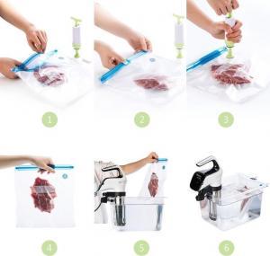 Quality Disposable Transparent Vacuum Sealer Food Storage Plastic Packaging Roll Bag for Food Sealed, Textured Food Freshness St for sale