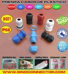 Prensa cabos de plástico (nylon / poliamida) IP68 com rosca BSC, rosca G e rosca BSP