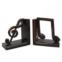 Quality Study Room Music Themed Bookends / Eco - Friendly Music Note Bookends for sale
