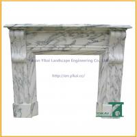 Quality Hand Carved Stone Marble Fireplace Mantel for sale
