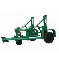 Quality 100 KN Green Underground Cable Tools , Easy To Move Cable Spool Trailer for sale