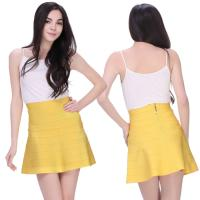 Buy cheap Sexy ladies yellow blue red apricot short bandage mini skirt from wholesalers