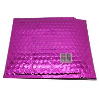 China Waterproof Pink Metallic Bubble Mailers Large Volume Puncture Resistant on sale