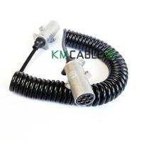 Quality 12V 7 Core Trailer Cable Semi Trailer Coiled Heavy Duty Copper Material for sale