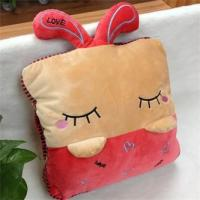 Quality Stuffed Cushion & Decoration for home  cartoon rabit pillow/cushion in red &ligth brown for sale