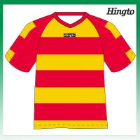 Quality Dry Fit Wicking Mesh Cool Soccer Jerseys / Polyester 150gsm Sports Uniforms for sale