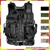 Quality Hot sale Cheap 600D good quality black stock adjustable military vest all the year for sale