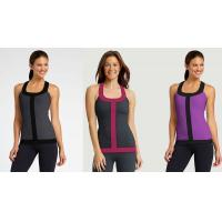 Quality Workout Vest Running Wear Womens Sport Tank Tops in Grey , Blue , Red , Rose for sale