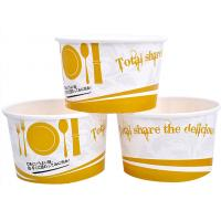 Quality 3oz 5oz Branded Ice Cream Cups / Bowls For Ice Cream Shop , Eco - Freindly Ink for sale