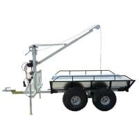 China 2000kg load capacity, galvanized timber trailer with crane and bed on sale