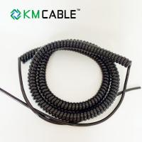 Quality 3core 0.75mm Coiled Flex Cable , LED Lighting Power Curly Electrical Wire for sale