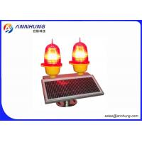 China Steady Solar Aviation Obstruction Light  With Bird Needle To Prevent Bird Drop on sale