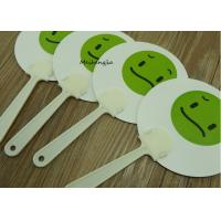 Quality Durable Expression face PP Hand Fan Plastic Sticks Advertising Customised Logo Printed for sale