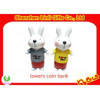 China Professional new plastic pvc gift coin banks on sale