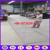 Quality High Tensile Galvanized Steel Wire Welded Gabion Box Wear And Abrasion Resistance for stone keeping for sale