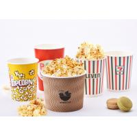 Quality 32oz Reusable Custom Printed Popcorn Buckets For Eating Shops , Eco Friendly for sale