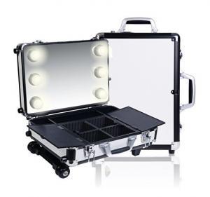 Quality Cosmetics Mini Studio Togo Makeup Case, Black / White for sale
