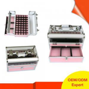 Quality RG Aluminum Pvc Make Up Nail Polish Organizer Box for sale