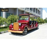 China Luxury CE approved electric vintage car 12 seater golf cart in Roof with Jumper Seat on sale