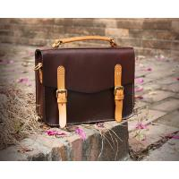 China LH-62-3 Handmade Handbags Vintage Briefcase Genuine Leather Ladies Bags on sale