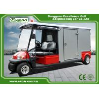 Quality Red 2 Seater 48v Electric Ambulance Vehicle For Park 1 Year Warranty for sale