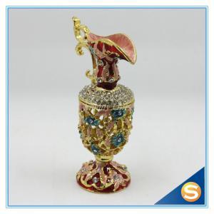 China Hot Sale Vase Trinket Box Crystal Hollowed-out Jewelry Box SCJ593 on sale