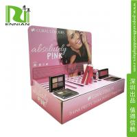 China Make-up POP Cardboard Displays Counter / Paper material Retail Display Racks on sale