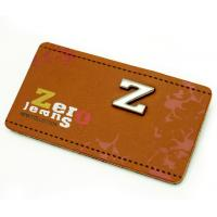 Quality custom printing genuine leather clothing size labels leather suitcase tags badge for sale