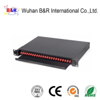 Quality 24 Port 19inch Fiber Optic Cable Termination Patch Panel for sale