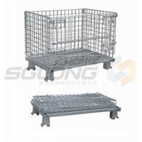 Quality Fully Collapsible Wire Container Storage Cages Industrial Metal Baskets for sale