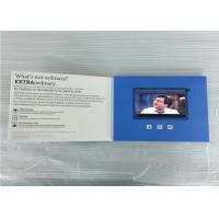 Quality custom folded  lcd  video brochures paper material 5inch video greeting  for insurance marketing/event for sale