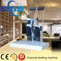 Quality SIGO-DK50 white color metal cover  financial binding machine factory directly supply made in China good quality for sale