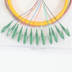 Quality MTP MPO SC UPC Fiber Optic Patch Cord 12 Core Bundled 0.2dB Interchangeability for sale