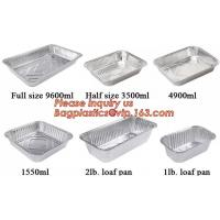 China aluminum foil container / tray / lunch box for food packing,Takeaway oven safe fast food take out disposable aluminum fo on sale
